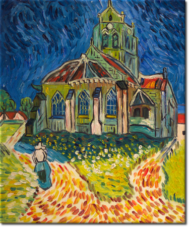 Kirche in Auvers in 50x60