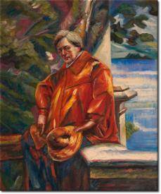 Porträt von Ferruccio Busoni 1916 in 55x64cm
