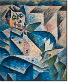 Hommage an Pablo Picasso in 52x62cm (Variante 01)