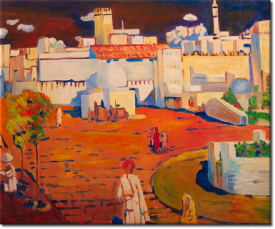 Arabisches Stadt in 63x54cm