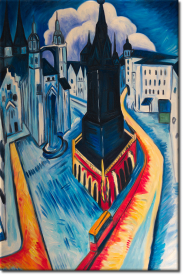 Der rote Turm in Halle  in 63x94cm