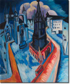 Der rote Turm in Halle  in 54x64cm