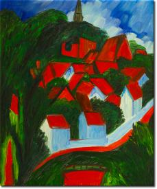 Burg auf Fehmarn in 52x62cm