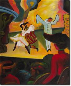 Das Russische Ballett in 56x65cm