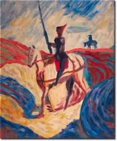 Don Quichotte in 55x62cm