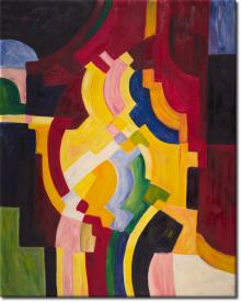 Farbige Formen III in 84x104cm
