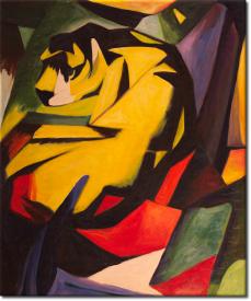 Der Tiger in 54x64cm