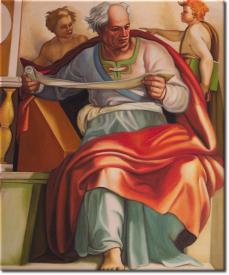 Buonarroti Michelangelo - Der Prophet Joel 1512 in 52x62