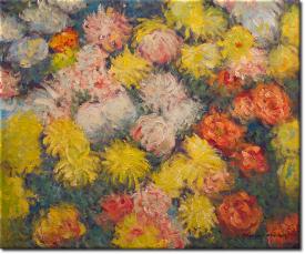 Chrysanthemen II in 63x52cm