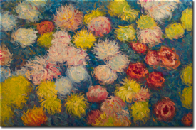 Chrysanthemen II in 90x60cm