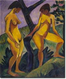 Zwei Mädchen in 52x63cm
