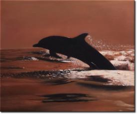 Der Sprung des Delphins in 60x50cm (Variante 04)