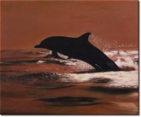 Der Sprung des Delphins in 60x50cm (Variante 05)