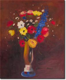 Feldblume in Vase mit langem Hals in 58x67cm (Variante 01)