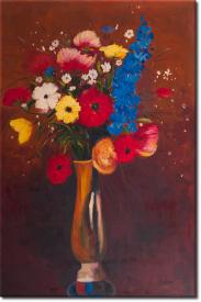 Feldblume in Vase mit langem Hals in 69x98cm (Variante 01)