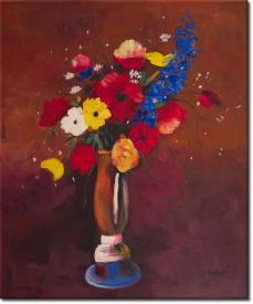 Feldblume in Vase mit langem Hals in 58x67cm (Variante 02)