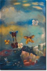 Schmetterlinge II in 68x98cm (Variante 01)