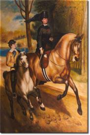 Reiter im Bois de Boulogne in 65x93cm
