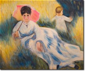 Frau mit Sonnenschirm in 64x54cm (Variante 02)
