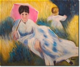 Frau mit Sonnenschirm in 64x54cm (Variante 04)