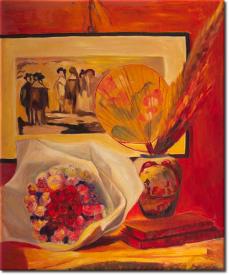 Stilleben mit Bouquet in 54x63cm