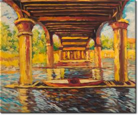 Unter der Brücke von Hampton Court in 64x54cm (Variante 02)