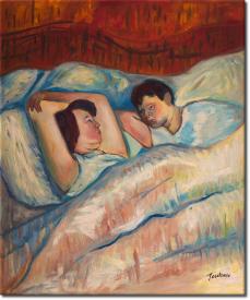 Im Bett II in 53x63cm (Variante 01)