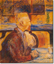 Porträt Vincent Van Gogh in 55x64cm