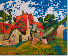Dorfstrasse in Auvers in 60x50