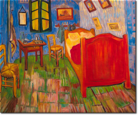 Schlafzimmer in Auvers in 60x50