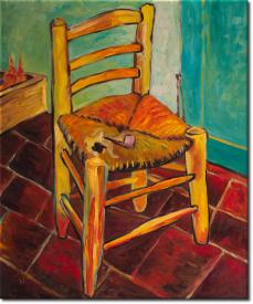 Vincents Stuhl mit Pfeife in 53x63cm