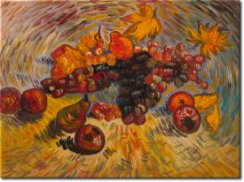 Stilleben mit Früchten in 44x34cm