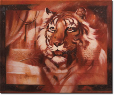 Impression des Tigers in 60x50