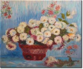 Chrysanthemen I in 66x56cm (Variante 03)