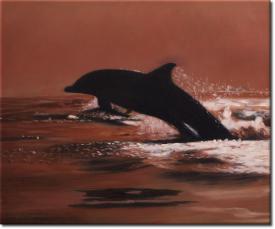 Der Sprung des Delphins in 60x50cm (Variante 03)