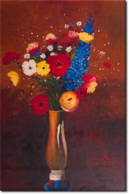 Feldblume in Vase mit langem Hals in 67x98cm (Variante 02)