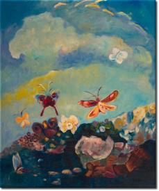 Schmetterlinge II in 53x63cm