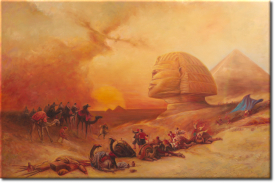 David Roberts - Herannahender Sandsturm in Giseh in 93x63