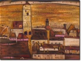 Stadt Stein in 44x34cm (Variante 01)