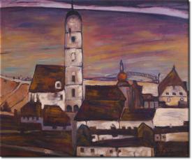 Stadt Stein in 61x51cm
