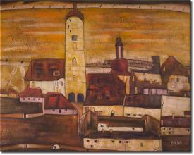 Stadt Stein in 104x84cm (Variante 01)
