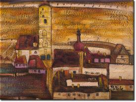Stadt Stein in 44x34cm (Variante 02)