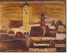Stadt Stein in 104x83cm (Variante 02)