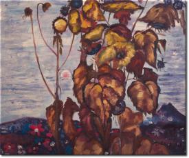 Sonnenblumen IV in 61x51cm (Variante 01)