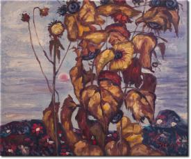 Sonnenblumen IV in 61x51cm (Variante 04)