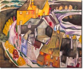 Der Häuserbogen II Die Inselstadt in 64x52cm