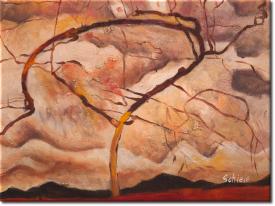 Herbstbaum in bewegter Luft in 43x33cm (Variante 02)