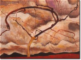 Herbstbaum in bewegter Luft in 43x32cm (Variante 04)