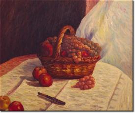 Stilleben mit Äpfeln und Weintrauben in 63x53cm (Variante 01)
