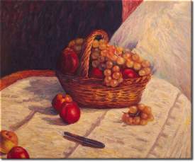 Stilleben mit Äpfeln und Weintrauben in 63x54cm (Variante 03)